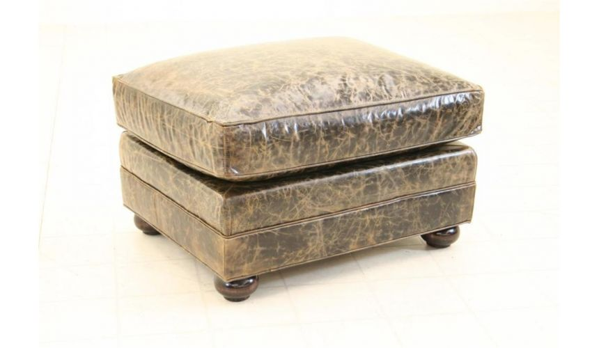 Luxury Leather & Upholstered Furniture Lancaster Ottoman fine home furnishings