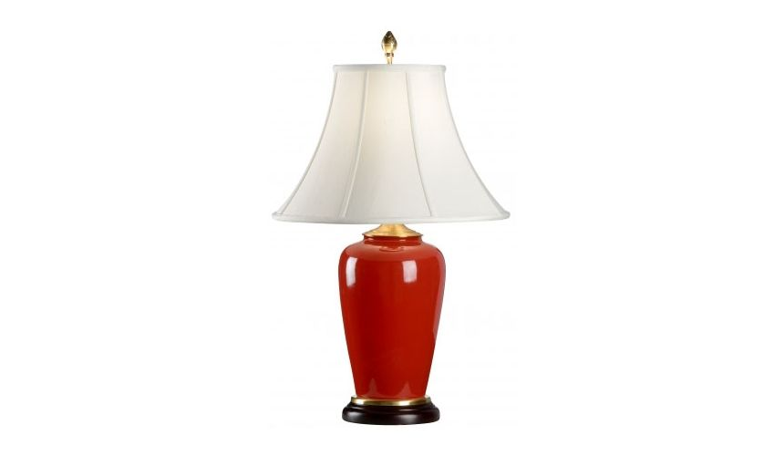 Lighting Bold Red Porcelain Lamp