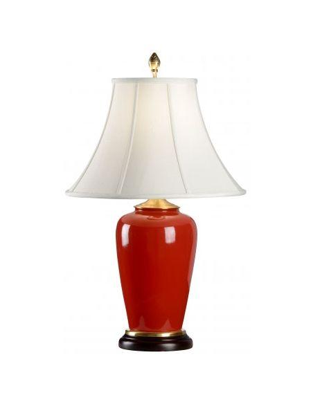 Bold Red Porcelain Lamp