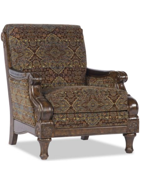 Luxury Leather & Upholstered Furniture Old English Tapestry Chair