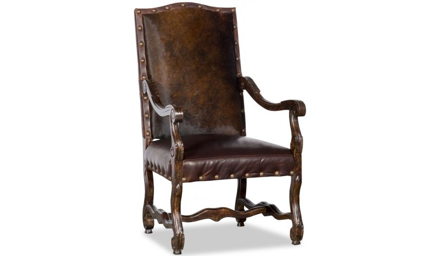 Luxury Leather & Upholstered Furniture Elegant Upholstered Chair