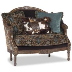 Blue and Brown Designer Settee