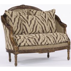 Cream and Brown Jungle Settee