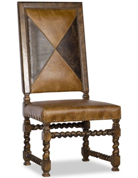 Dining Chairs Rectangular Leather Dining Chair