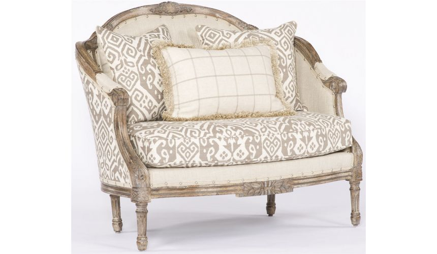 Western Furniture Cozy Cream Settee