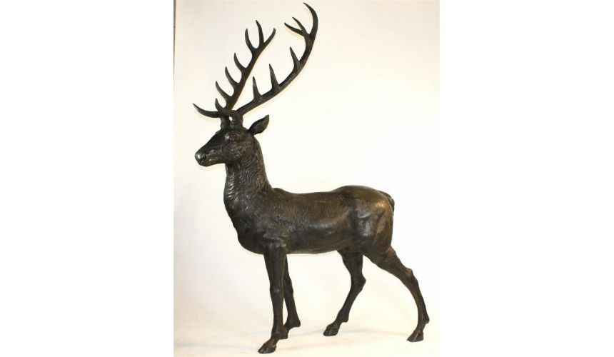 Decorative Accessories Home luxury Statues Large Bronze Male Deer