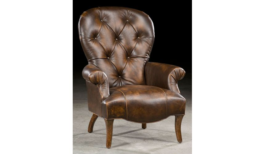 Luxury Leather & Upholstered Furniture Accent arm chair. Modern styling. 76