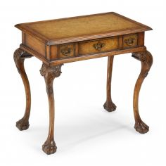Accent table with leather top 492114