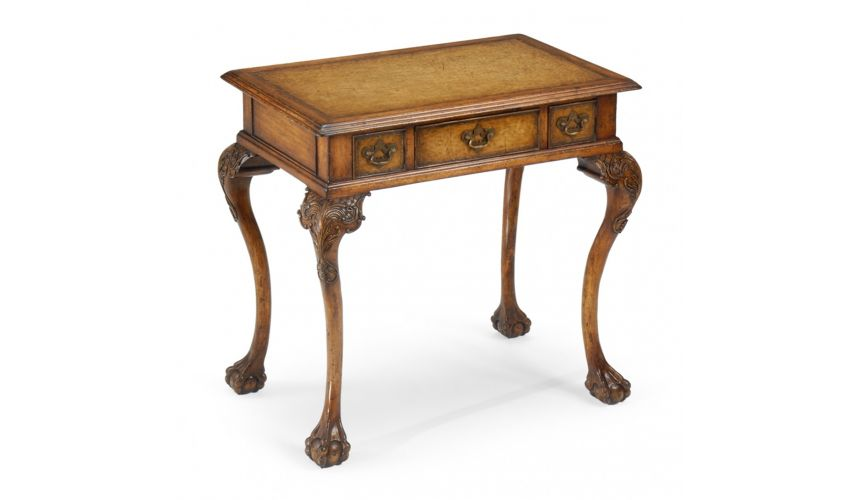 Square & Rectangular Side Tables Accent table with leather top 492114