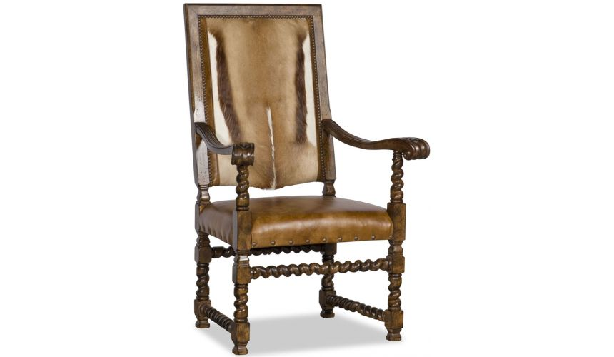 Luxury Leather & Upholstered Furniture Stylish and Earthy Arm Chair