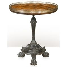 brass lamp table