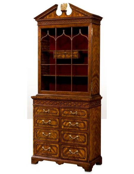 Breakfronts & China Cabinets Gothic Astragals