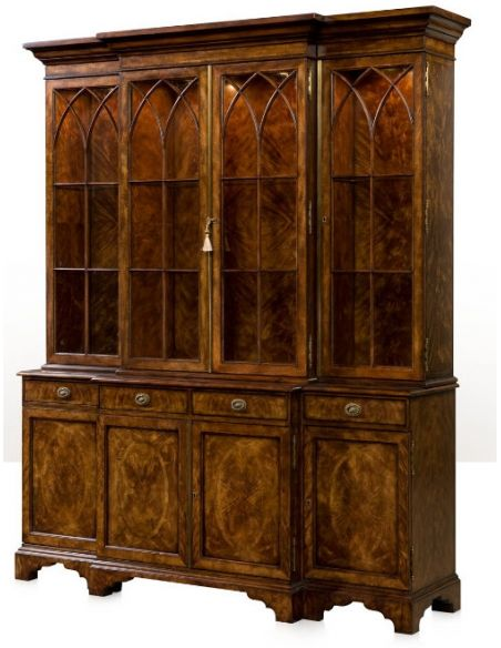 Breakfronts & China Cabinets Gothic Arches
