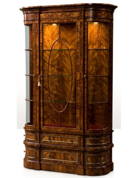 Breakfronts & China Cabinets Gothic Library Display Cabinet
