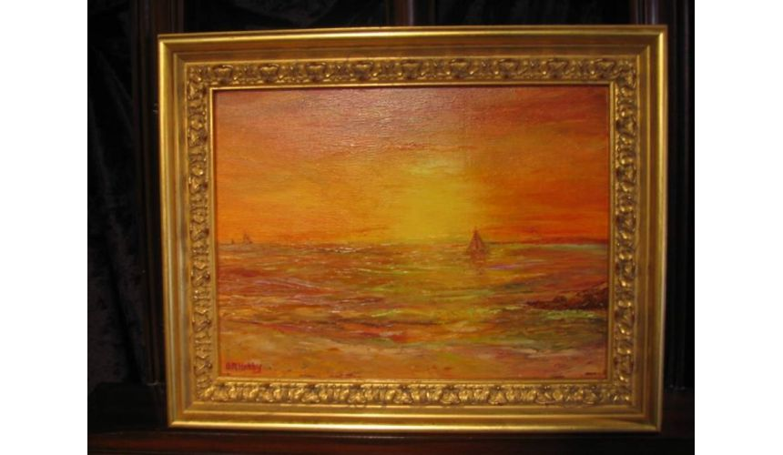 Original Oil Paintings By Artist: Anne-Marie Debuissert Sunset Sail original oil paintings, Artist Anne-Marie Debuissert