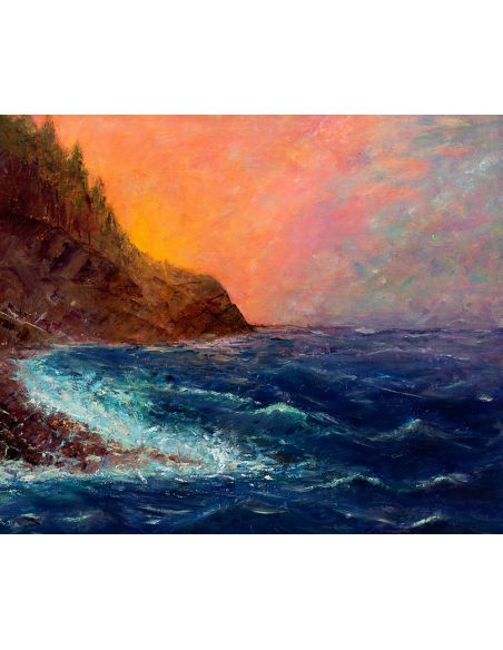 Original Oil Paintings By Artist: Anne-Marie Debuissert Moody Waters original oil paintings