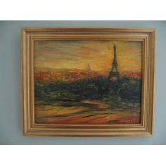 Paris Silhouette original oil paintings