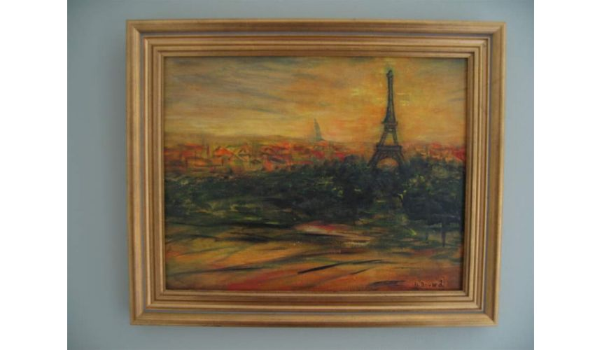Original Oil Paintings By Artist: Anne-Marie Debuissert Paris Silhouette original oil paintings
