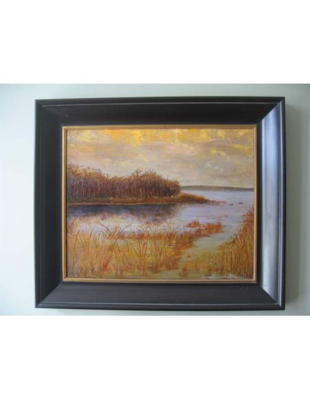 Original Oil Paintings By Artist: Anne-Marie Debuissert Winter Glow original oil paintings