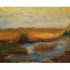 Peaceful Pond original oil paintings