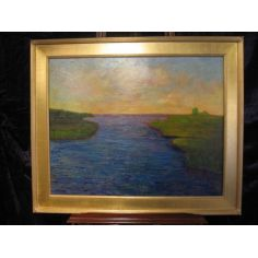 Sparkling Sakonnet River original oil paintings