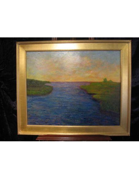 Original Oil Paintings By Artist: Anne-Marie Debuissert Sparkling Sakonnet River original oil paintings