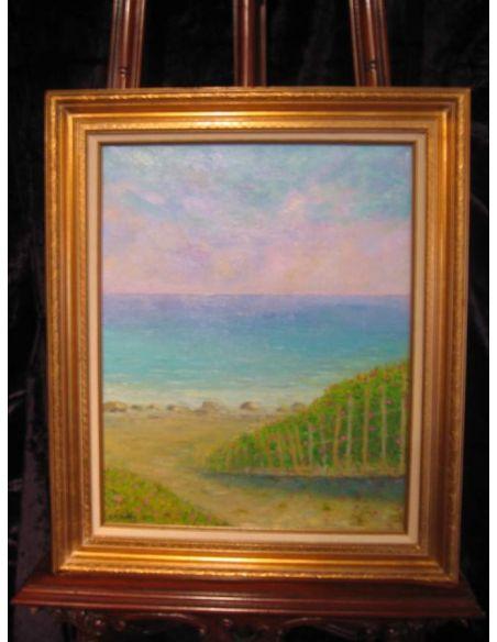 Original Oil Paintings By Artist: Anne-Marie Debuissert Greenhill Beach Roses original oil paintings