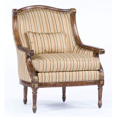 American home furniture and furnishings. Cool striped accent chair. 70