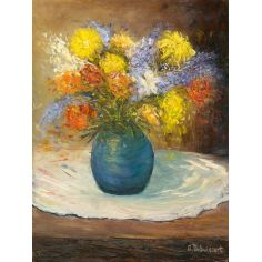 Canvas print Splashy Bunch of Flowers