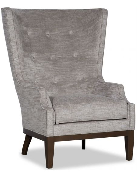 Luxury Leather & Upholstered Furniture Tufted Upholstered Arm Chair