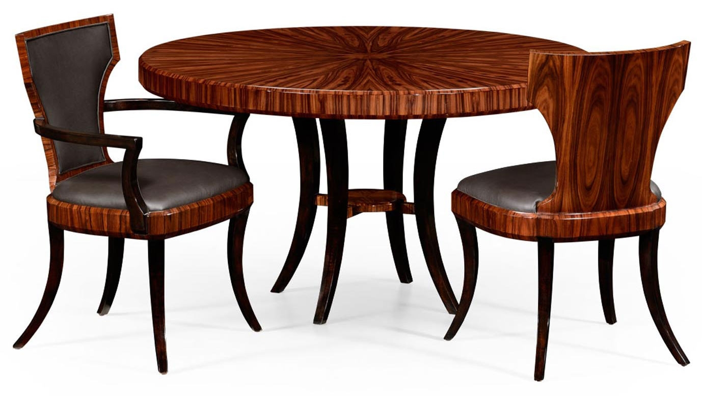 Round dining table with santos rosewood table for Circular dining table