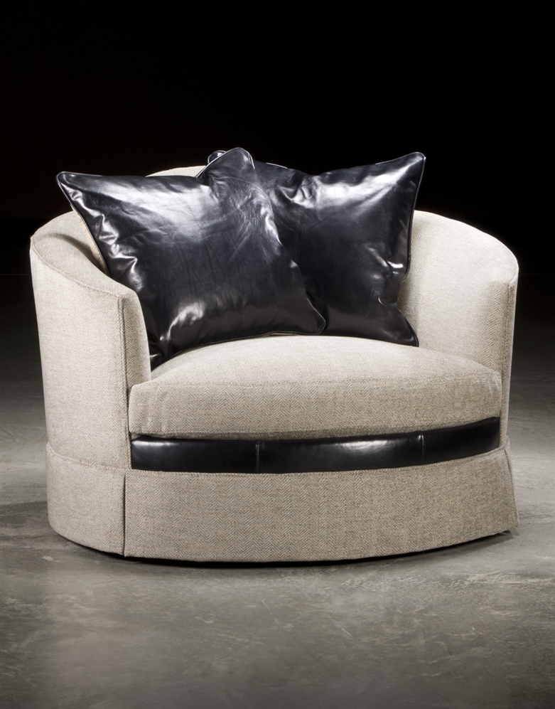 Luxury Leather U0026 Upholstered Furniture Art Nu Voe Style Double Size Swivel  Chair