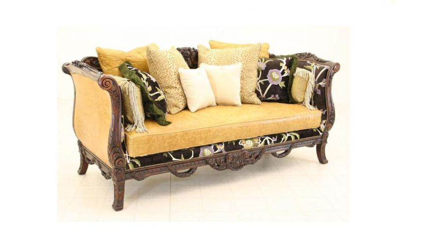 Finely Carved Victorian Sofa