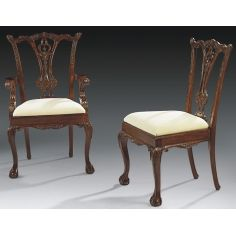 Ball and claw foot dining chairs, high end solid mahogany 44