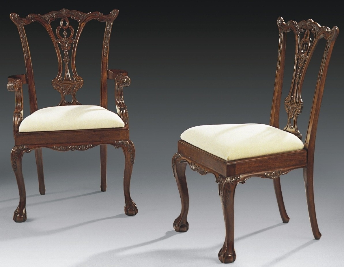Ball and claw foot dining chairs high end solid mahogany 44 for Mahogany dining room furniture