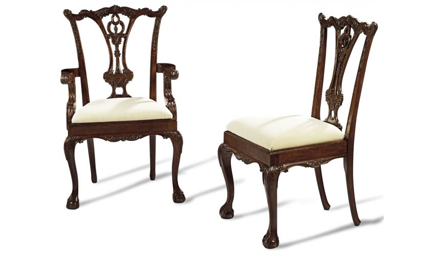 Ball And Claw Foot Dining Chairs High End Solid Mahogany 44