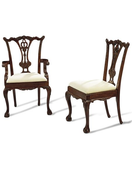Dining Chairs Ball and claw foot dining chairs, high end solid mahogany 44