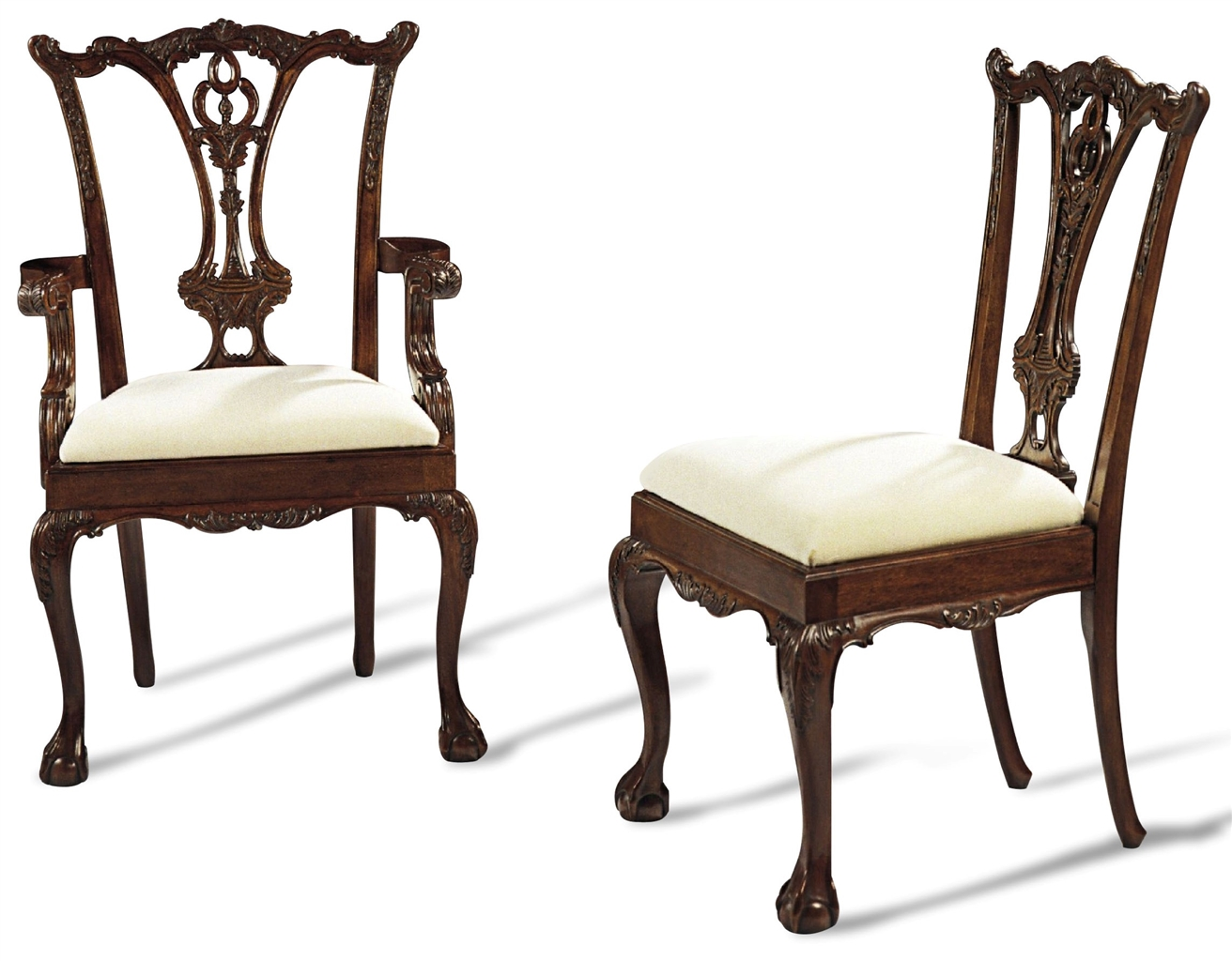 Ball and claw foot dining chairs wooden dining chairs for Dining furniture