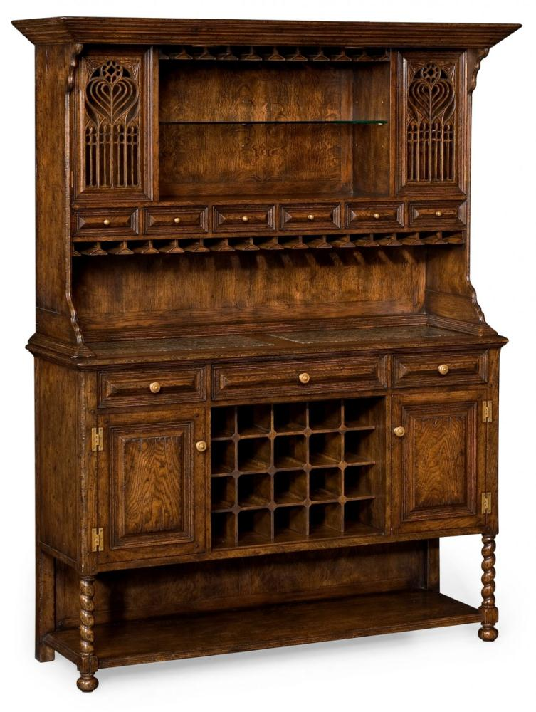 Home Bar Furniture Oak Drinks Cabinet