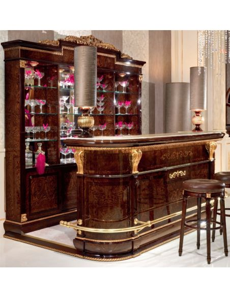 Upscale Bar Furniture Complete Bar Cabinet
