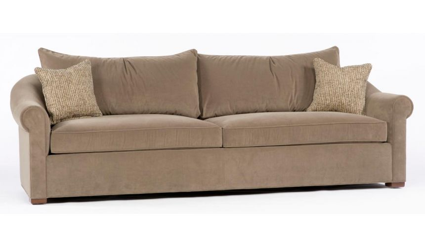 SOFA, COUCH & LOVESEAT Beige sofa. 89