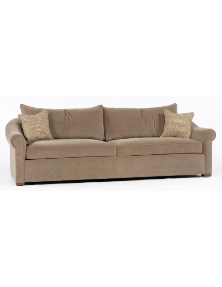 SOFA, COUCH & LOVESEAT Beige sofa. 89