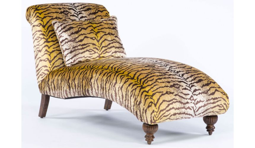 Luxury Leather & Upholstered Furniture Bengal tigress wild side chaise. 322