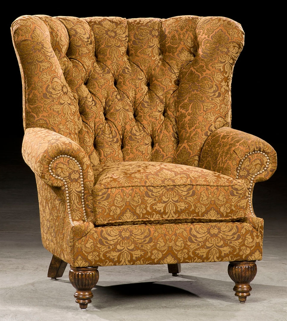 CHAIRS, Leather, Upholstered, Accent Best Library Fireplace Chair. 9