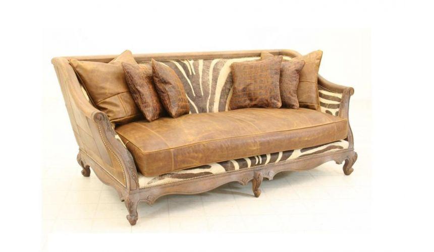 Capetown Chestnut Hair Hide Sofa