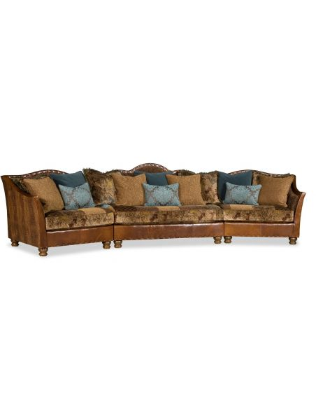 Luxury Leather & Upholstered Furniture 5-7 Seater Big Family Sofa