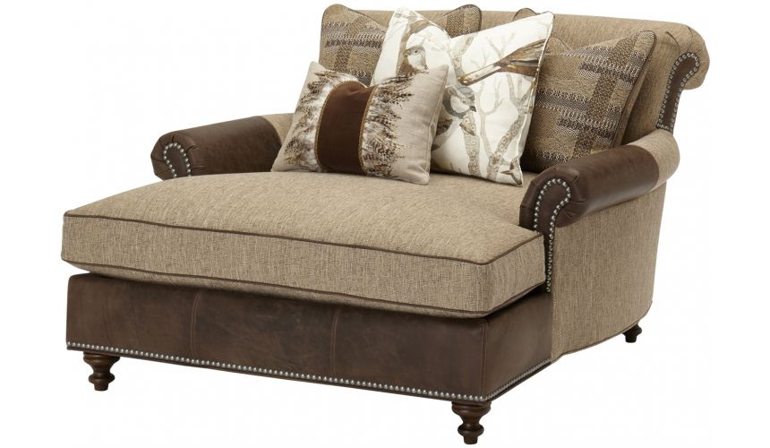 Luxury Leather & Upholstered Furniture Extended Chair chaise lounge