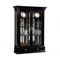 Black Painted Display Cabinet. Elegant Decor
