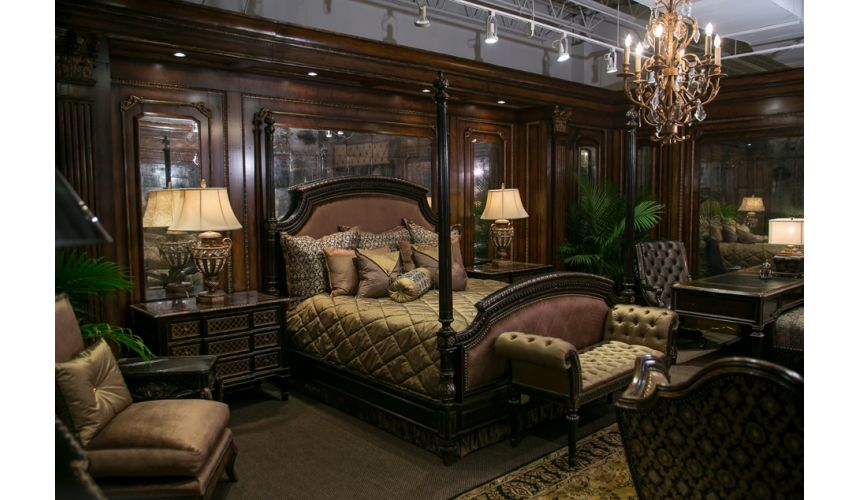 BEDS - Queen, King & California King Sizes Bernadette Livingston Four Poster Bed. Liquid Assets Collection.
