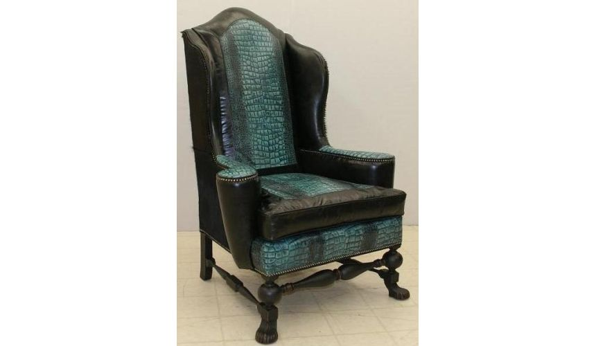 Decorative Accessories Blue Lagoon predator chair, fine home furnishings